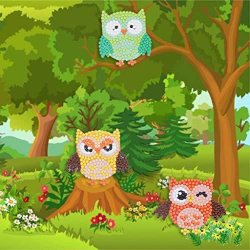 Aobuang Full Drill Eule 5D Diamant Gemälde, runde Leinwand Diamant Stickerei Kreuzstich Hohe Qualität Diamant Gemälde Ideal für Kinder Spielen