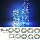 10 x 20 LEDs Guirlande lumineuse Multicolore, SiFar 2M Lampes de Bouteille, Lumineuses Argent Fil pour DIY Maison, Extérieur, Jardin, Terrasse, Mariage et....