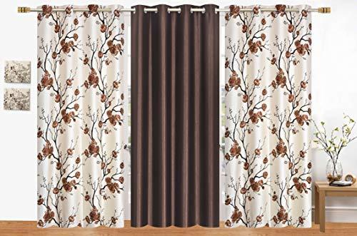 check MRP of brown color curtains LA ELITE