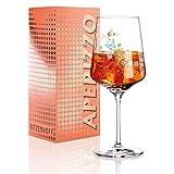 RITZENHOFF Aperizzo Aperitifglas von Kathrin Stockebrand, aus Kristallglas, 600 ml, mit edlen Goldanteilen -
