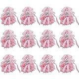 Bomboniera a forma di cestino, per bambina, colore rosa, confezione da 12 pezzi, per compleanno, baby shower, decorazioni, Pink Bear, 6x10cm