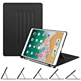 Fintie Hülle für iPad Air 10.5 2019 (3. Generation) / iPad Pro 10.5 2017 - [Multi-Sichtwinkel] Ultra Schlank Magnetische Kickstand Schutzhülle mit Pencil Halter, Auto Sleep/Wake, Schwarz
