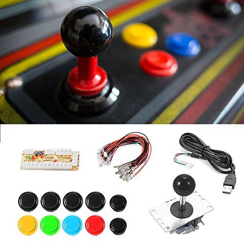 XCSOURCE® Zero Delay Juego Arcade USB Encoder Joystick PC Joystick 2/4/8 Kit Ajustable DIY para Mame Jamma Machine Gaming AC700