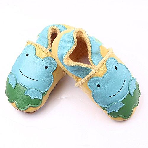 xhorizon TM MLK Soutien-gorge en cuir Unisex Baby Soft Toddler Shoes enfant grenouille