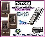 HEROAL POCKET 3750-1 / 3750-2 / 3750-4 kompatibel handsender, klone fernbedienung, 4-kanal 433,92Mhz fixed code. Top Qualität Kopiergerät!!!