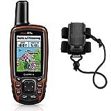 Garmin GPSMAP 64s Navigationshandgerät - 2,6''-Farbdisplay, barometrischer Höhenmesser, Live Tracking & Garmin Rucksackbefestigung