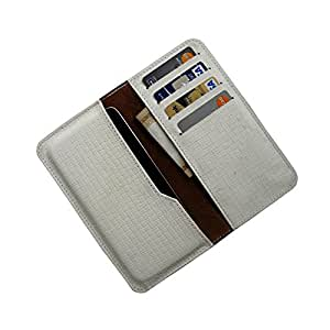 i-KitPit : PU Leather Wallet Flip Pouch Case For Samsung Galaxy S5 (WHITE)