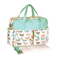 YoungSoul Messenger Changing Bags, Large Baby Nappy Diaper Bags with Changing Mat and Adjustable Shoulder Straps Cute Box