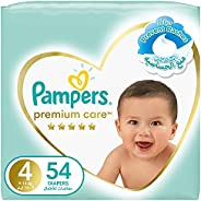 Pampers Premium Care, Size 4, Maxi, 9-14 kg, Mega Pack, 54 Diapers