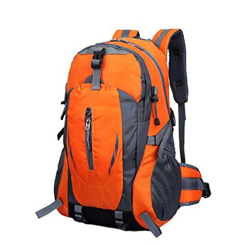 Im Freienberg Taschen Wasserdichte Nylonbeutel Paar Freizeitsporttasche,Black 301orange