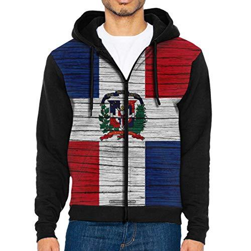 rouxf Herren Hoodies Flagge der Dominikanischen Republik Full Zip Herren Hoodie Sport Sweatshirt mit Kapuze -