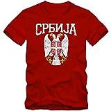 Shirt Happenz Serbien Wappen Premium-Herrenshirt Serbien Republik Serbien Belgrad Herrenshirt