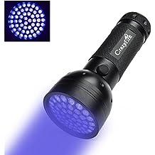CrazyFire Torcia a 51 LED UV da 395NM Luminosa Torcia a LED, Evidenzia Macche di Urina di Animali (Cuccioli, Cani, Gatti) su Tappet, Moquettes, Divani. Alimentata da 3 Batterie AA (Non Incluse nella Confezione)
