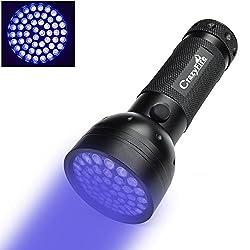 51 Led Uv Taschenlampe, Crazyfire 395 Nm Professional Ultraviolett Taschenlampe Wasserdicht, Schwarzlicht Taschenlampe Für Haustierurinfalschgeldspot-skorpione