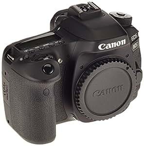 Canon EOS 80D SLR-Digitalkamera Gehäuse (24,2 Megapixel, 7,7 cm (3 Zoll) Display, APS-C CMOS Sensor, 45 AF-Kreuzsensoren, DIGIC 6 Bildprozessor, NFC und WLAN, Full HD) schwarz