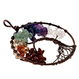 MagiDeal Collar Colgante de Alambre Cobre de Vendimia de Encantos Forma de Árbol de Vida - Multicolor1#
