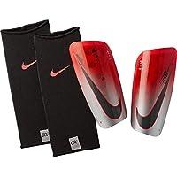 Nike NK CR7 Merc LT GRD Espinilleras, Unisex Adulto, (Flash Crimson/Silver/Black), M