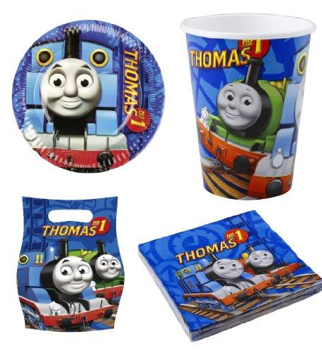 e Lokomotive 4er Set Paket Geburtstag (Thomas Geburtstag)