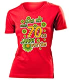 Das ist Mein 70er Jahre Kostüm 4523 Damen Karneval Faschingskostüm Fun-T-Shirts Rot XXL