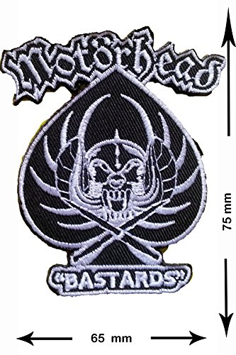 Patch - Motörhead - Bastards - Motorbike - Motorsport - Motorcycles - Biker - toppa - applicazione - Ricamato termo-adesivo - Give Away