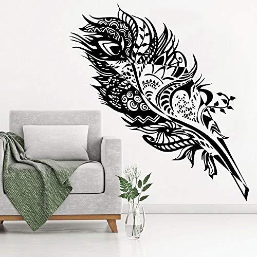 jiushizq Adesivi murali Camera da Letto Adesivo in Vinile Decor Camera da Letto Soggiorno Finestra Decorazione della casa Poster Decal W Bianco 105X42CM