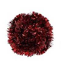 DIYASY Christmas Red Chunky Tinsel Garland for Christmas Tree Decorations (20 FEET Long)