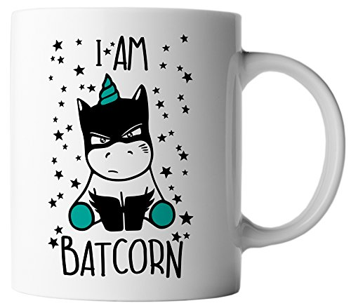 Batcorn Batman Unicorn inkl. Geschenkkarte, Farbe:Weiß/Türkis (Original-paar-kostüm)