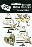 DIY Luxus- 3D-Sticker Hochzeitstorte Glitter