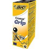 Bic Orange Grip Stylos à bille Pointe fine 0,8 mm lot de 20 pieces Noir