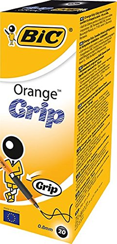 bic-orange-grip-punta-fine-08-mm-confezione-20-penne-colore-nero