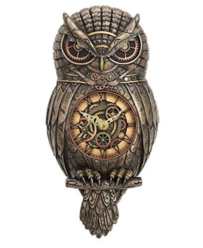 c Steampunk Eule Wanduhr Uhr Uhrwerk Clockwork Owl Clock (Steampunk Eule Kostüm)