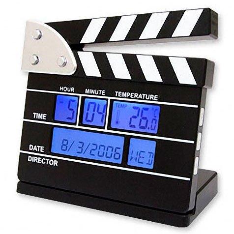 Reloj Despertador Claqueta Director de Cine en Tamaño Mini