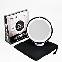 Led Makeup Mirror - Adjustable Magnification Lighted