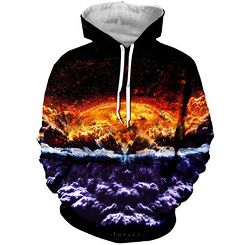 Unisex-Sonnensystem-Hintergründe 3D Gedruckte Hoodies Frauen/Männer Nebula Sweatshirts Color as picture7 XL