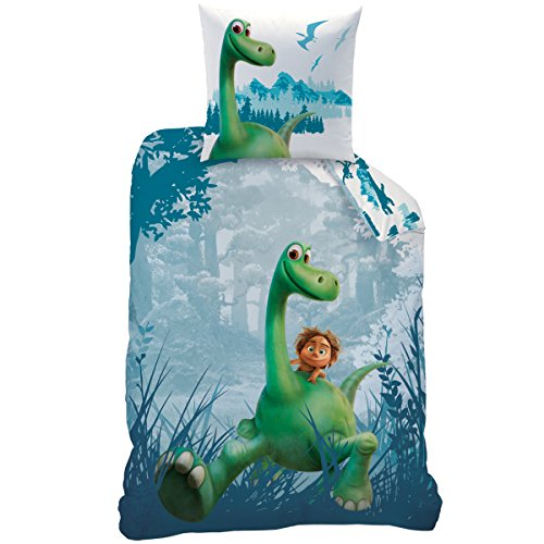 Disney The Good Dinosaur 043627 Bettwäsche Prehistoric Print, Baumwolle Renforce, 135 x 200 + 80 x 80 cm