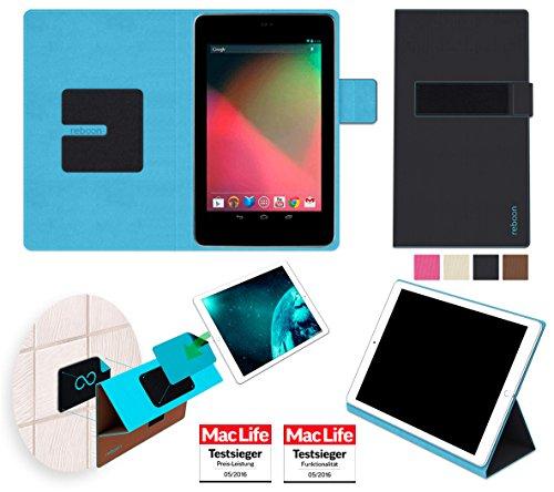 reboon Hülle für Asus Google Nexus 7 Tasche Cover Case Bumper | in Schwarz | Testsieger