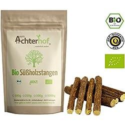 Süßholzstangen BIO (100g) ca. 12 Stück | 11cm lang | Süßholz Stangen | Süßholzwurzel | Lakritzstangen