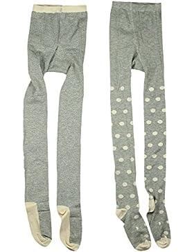 Mala 2er Pack Baby Mädchen Winter Strumpfhose, Alter 18-36 Monate, Größe: 92/98, Farbe: Silber, 4261