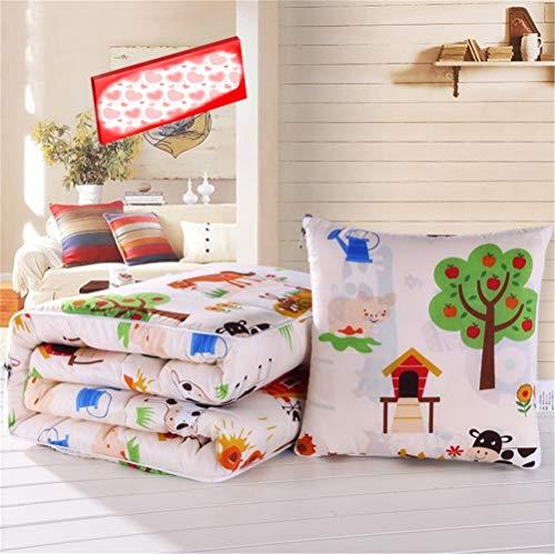 Kissen Quilt Car Dual Use Cute Faltbare Nickerchen Decke Kissen Zurück Taille Von Klimaanlage Kleine Quilt -