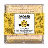 Akazien Honigwabe| Honig von Hompass | Imker-Bienenhonig-Honig für gesundes Leben| Honigwabe| Wabenstück 340 Gramm
