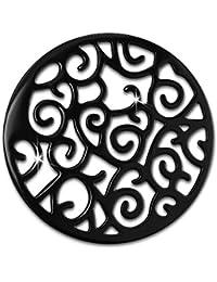 Amello Acero Inoxidable Coin Ornament ennegrecido para coinsfassung Acero joyas esc505s