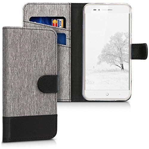 kwmobile ZTE Blade A612 Hülle - Kunstleder Wallet Case für ZTE Blade A612 mit Kartenfächern und Stand