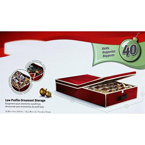 SSITG Boîte de rangement pour 40 Boules de Noël Arbre de Noël boules environ 76 x 45 x 12 cm