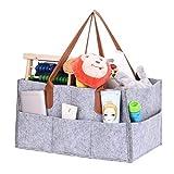 Filz Baby Windel Caddy Organizer Korb tragbar Storage Bin groß Kindergarten Tasche mit herausnehmbaren Trennwänden für Wickelkommode, Beißring, Windel, Lätzchen Best Baby Dusche Geschenk Korb (gray-b)