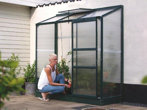 Vitavia Anlehngewächshaus Ida 1300 HKP 4 mm 1,30 m², dunkelgrün