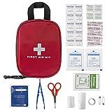 Plusinno Mini Kit de primeros auxilios compacto Bolso médico de emergencia para el recorrido del deporte Inicio Supervivencia en la naturaleza (31 piezas)
