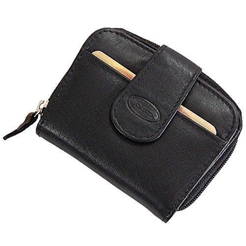 BOCCX ausgefallene Damen-Geldbörse kleiner Geldbeutel aus Leder Portemonnaie in hochwertiger...