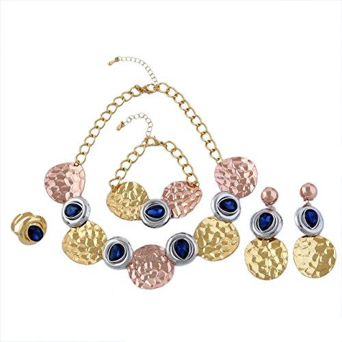 Yulaili Fashion Jewelry Sets African Kostüm Halskette Fashion Charms Armband Frauen 24K Dubai vergoldet ()
