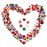500 Pieces Resin Buttons Assorted Colors and Shapes Buttons for Crafts Sewing Decorations, 2 Holes and 4 Holes