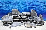 Pro Stein Aquarium Deko Messerstein in Grau/Schwarz 0,8-1,2 Kg Felsen Nr.48